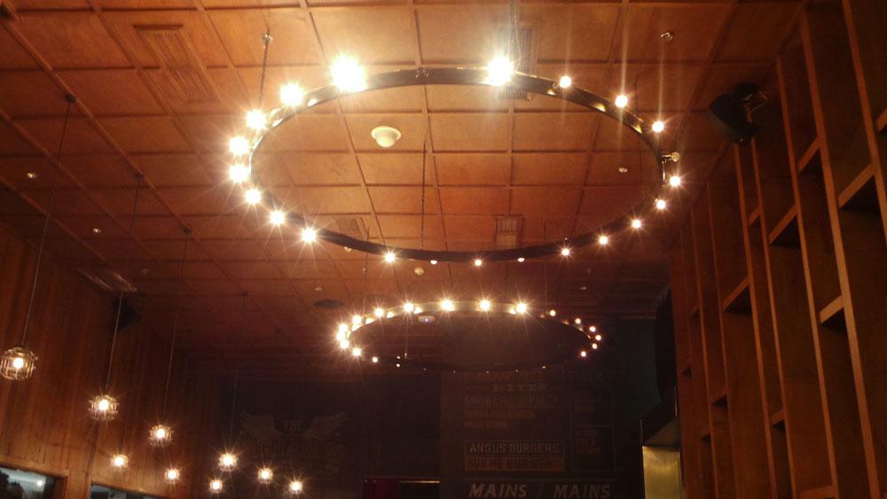 Niner Ichi Nana's enormous chandeliers